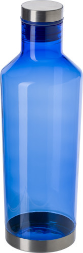 Transparante waterfles (850 ml) blauw