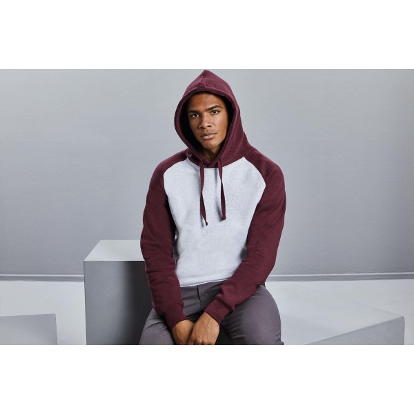 Authentic hooded baseball sweatshirt