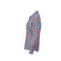 Ladies' Checked Blouse donkeroranje/blauw-oranje-wit