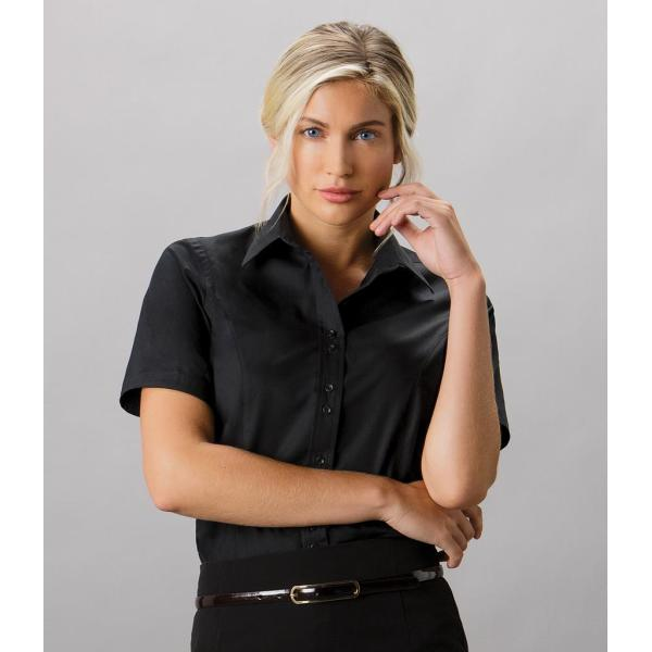 Ladies Short Sleeve Tailored City Business Shirt