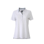 Ladies' Plain Polo wit/blauw-geel-wit