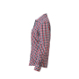 Ladies' Checked Blouse navy/rood-navy-wit