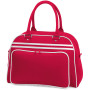Retro bowling bag classic red / white one size