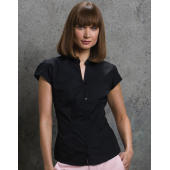 Women's Tailored Fit Mandarin Collar Blouse SSL