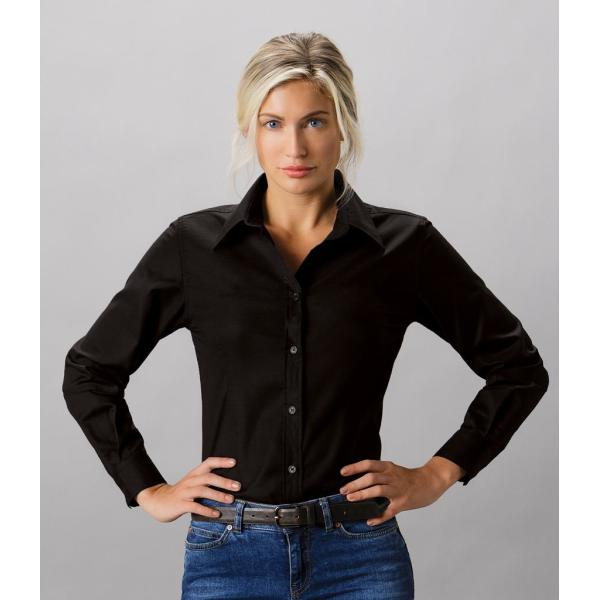 Ladies Long Sleeve Tailored Workwear Oxford Shirt