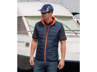 Reversible soft padded safety gilet