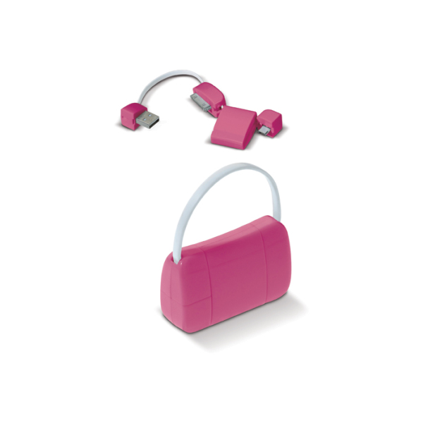 USB connector Lady Bag roze Roze 13