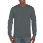 Gildan T-shirt Ultra Cotton LS Charcoal S