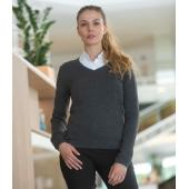 Ladies Lightweight Cotton Acrylic V Neck Sweater