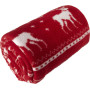Polar fleece rendier deken (180 gr/m²) rood