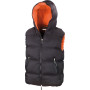 Bodywarmer Dax Down Feel black / orange XXL