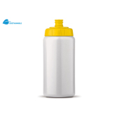 Sportbidon Basic 500ml wit / geel