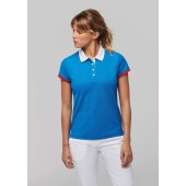 Dames-sportpolo black / red xxl