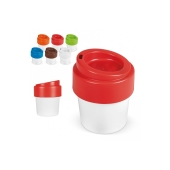 Hot-but-cool koffiebeker met deksel 240ml - Wit / Wit