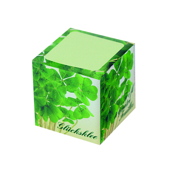 Cube Luck, four-leaf-clover bulbs