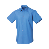 Men´s Short Sleeve PolyCotton Easy Care Tailored Poplin Shirt