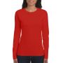 Gildan T-shirt SoftStyle LS for her red S