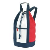 Match bag 600D 'Marina',white/blue/red