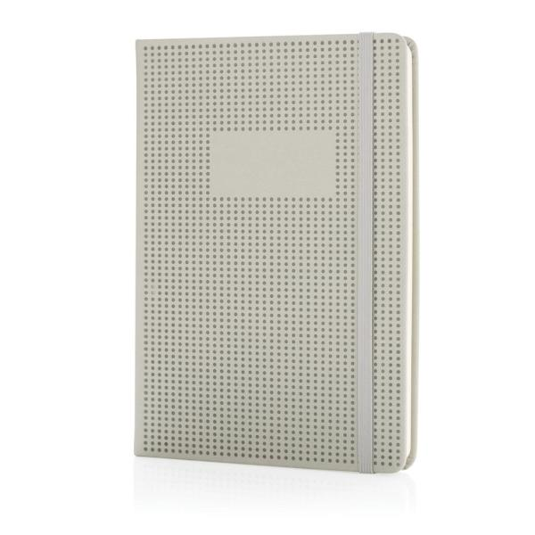 A5 Deluxe geperforeerd hardcover PU notitieboek, zwart