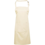 Colours bib apron with pocket natural one size