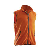 Jobman 7501 Fleece vest oranje 4xl