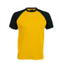 BASE BALL > T-SHIRT BICOLORE MANCHES COURTES yellow / black L