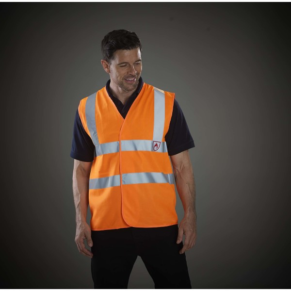 High visibility and flame retardant gilet