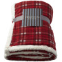 Joan sherpa plaid deken - Rood