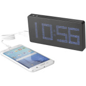 Clok powerbank 8000 mAh met LED display en klok