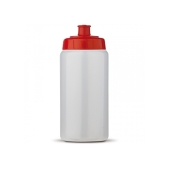Sportbidon Basic 500ml transparant rood