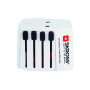 Skross|World adapter MUV USB white