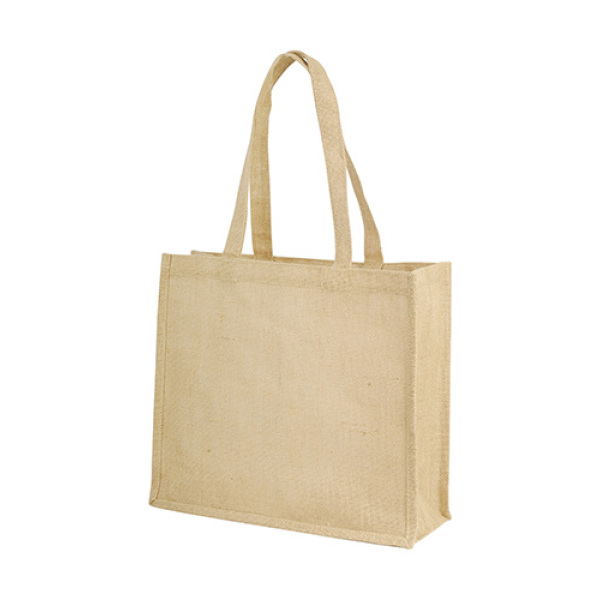 Long Handled Jute Shopper Bag