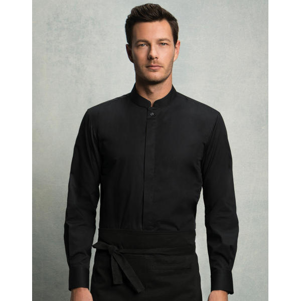 Tailored Fit Mandarin Collar Shirt