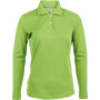 Damespolo lange mouwen lime 3xl