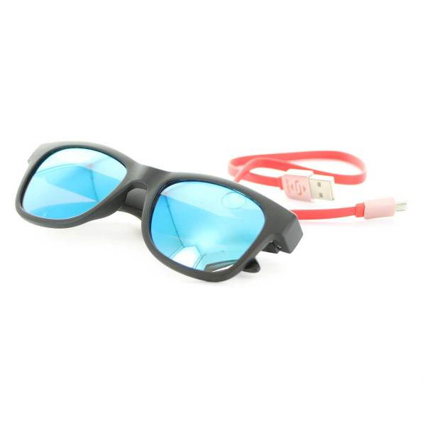 Bedrukte Bluetooth Sunglasses - black