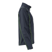Ladies' Zip-Off Softshell Jacket - ijzergrijs/groen