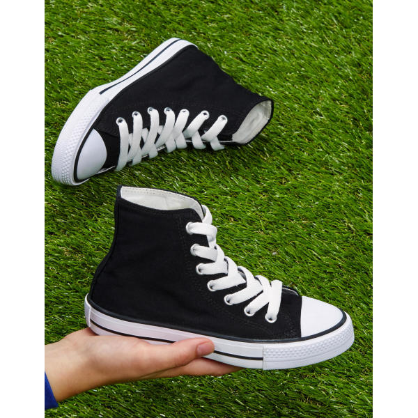 High Top Printable Canvas Shoe/Junior