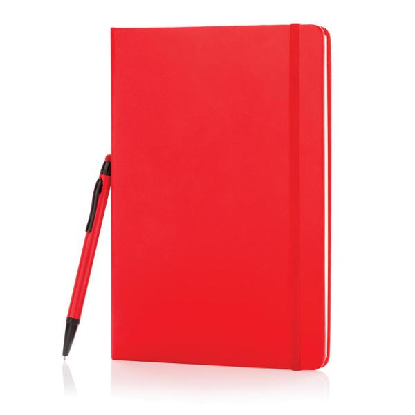 A5 basic hardcover notitieboek met touchscreen pen, zwart