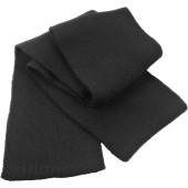 Classic heavy knit scarf black one size