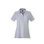 Ladies' Plain Polo wit/navy/wit