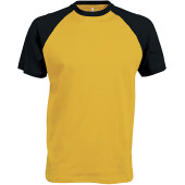 Baseball - tweekleurig t-shirt yellow / black l