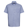 Men S/S Easy Care Oxford Shirt, Oxford Blue, 6XL, RUS
