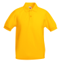Kids 65/35 Polo, Sunflower, 7-8jr, FOL