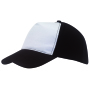 5-panel truckercap BREEZY - wit, zwart