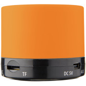 Duck cilinder Bluetooth® speaker met rubberen afwerking - Oranje