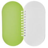 Capsule notitieboek - Lime/Wit