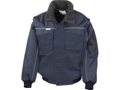 Heavy duty removable sleeve jacket