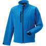 Men's softshell jacket azur blue l