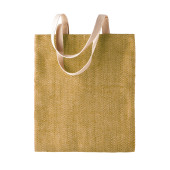 100% natuurlijke jute tas natural / military green one size