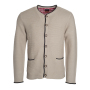Men's Traditional Knitted Jacket beige/antraciet-melange/rood